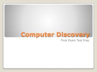 Computer Discovery