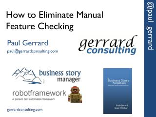 How to Eliminate Manual Feature Checking