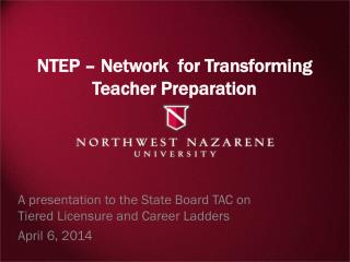 NTEP – Network  for Transforming Teacher Preparation