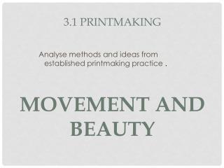 3.1 Printmaking