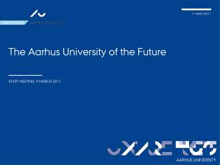 The Aarhus  University  of the Future