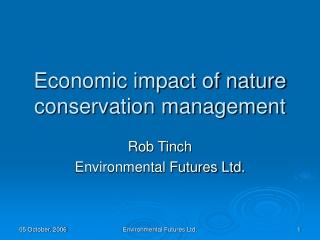 the economic impact of nature-based tourism