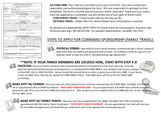 STEPS TO APPLY FOR COMMAND SPONSORSHIP (FAMILY TRAVEL):