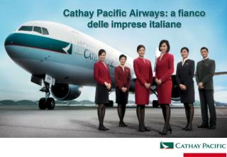 Cathay Pacific Airways: a  fianco delle imprese  italiane