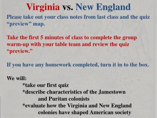 Virginia  vs.  New England
