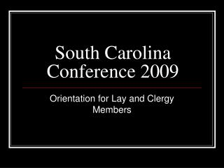south carolina conference 2009