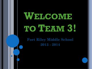 Welcome to Team 3!