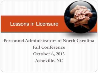 Lessons in Licensure