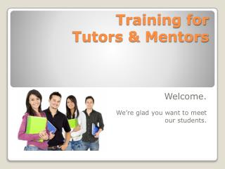 Training for  Tutors & Mentors