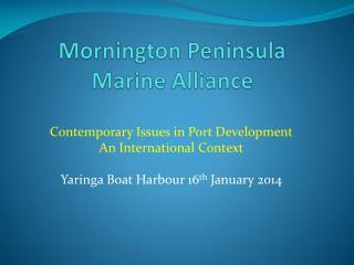 Mornington Peninsula Marine Alliance