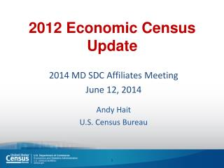 2012 Economic  Census Update