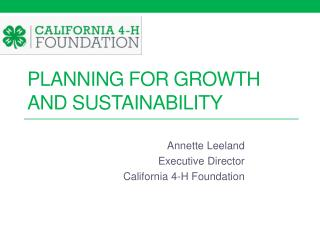 Planning for Growth and Sustainability