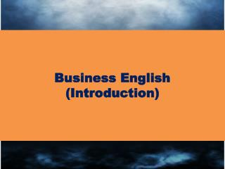 Business  English (Introduction)