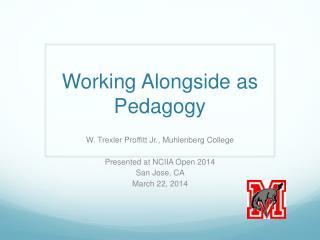Working Alongside as Pedagogy