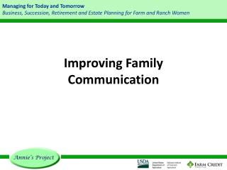 Improving Family Communication