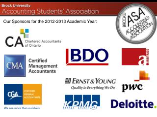 Our Sponsors for the 2012-2013 Academic Year: