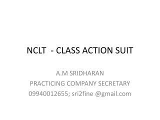 NCLT  - CLASS ACTION SUIT
