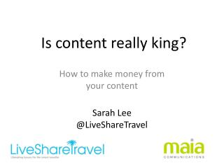 �Is content really king ?