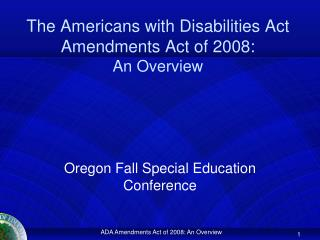 the americans with disabilities act amendments act of 2008: an ...