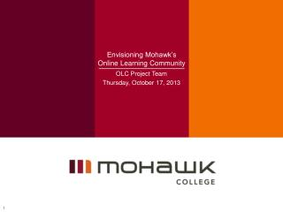 Envisioning Mohawk's Online Learning Community