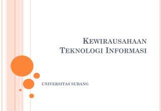 Kewirausahaan Teknologi Informasi
