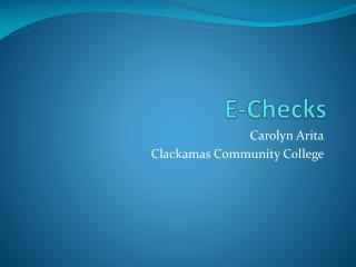E-Checks