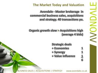 The Market Today and Valuation