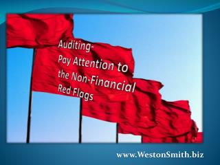 Auditing-  Pay Attention to  the Non-Financial  Red Flags