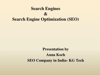 Basics of SEO Tutorial - SEO Company in India