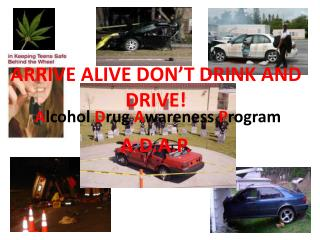 ARRIVE ALIVE DON'T DRINK AND DRIVE!