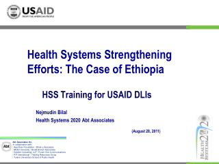 HSS Training for USAID DLIs