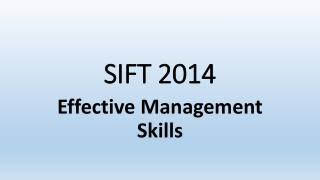 SIFT 2014