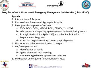 Long Term Care & Home Health Emergency Management Collaborative (LTCHHEMC)