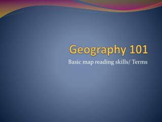 Geography 101