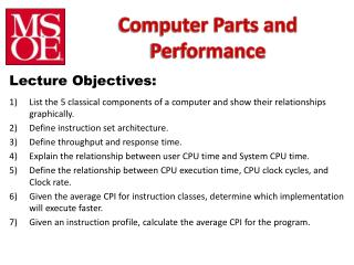 Computer Parts and Performance