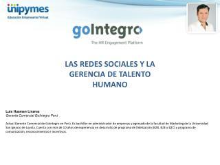 LAS REDES SOCIALES Y LA GERENCIA DE  TALENTO HUMANO