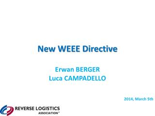 New WEEE Directive