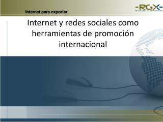 Internet para exportar