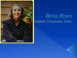 Betsy Byars