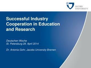 Successful Industry Cooperation  in Education  and  Research
