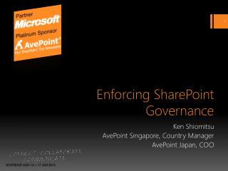 Enforcing SharePoint Governance