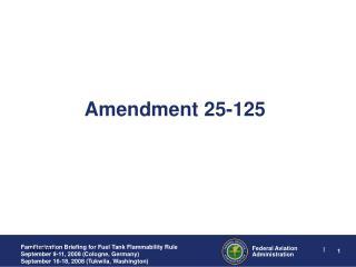 amendment 25-125
