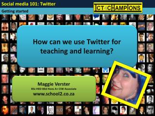 How can we use Twitter for teaching and learning?