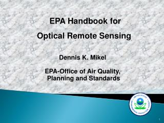 EPA Handbook for  Optical Remote Sensing