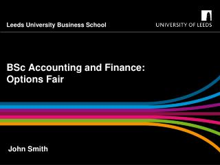 BSc Accounting  and  Finance: Options Fair
