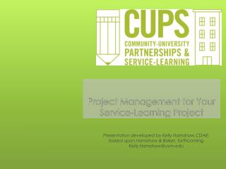 Project Management for Your  Service-Learning Project