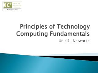 Principles of Technology Computing Fundamentals