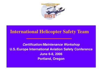 International Helicopter Safety Team - FAA: Home