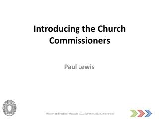 Introducing the Church Commissioners