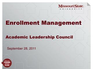 Enrollment Management Academic Leadership Council